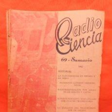 Radios antiguas: REVISTA RADIO CIENCIA NUMERO 69 1960 . Lote 101406227