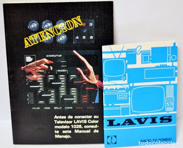 MANUAL ORIGINAL TV LAVIS 1026 + CATALOGO RADIO TV SONIDO VINTAGE RETRO (Radios, Gramófonos, Grabadoras y Otros - Catálogos, Publicidad y Libros de Radio)