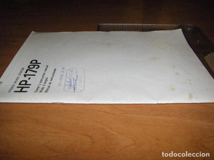 Radios antiguas: Instrucciones tocadiscos Sony HP-179 - Foto 7 - 103997883