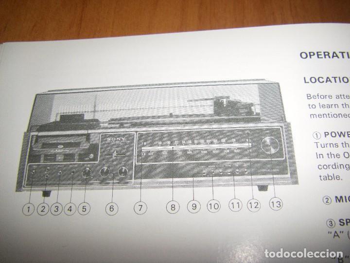 Radios antiguas: Instrucciones tocadiscos Sony HP-179 - Foto 11 - 103997883