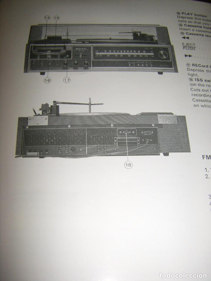 Radios antiguas: Instrucciones tocadiscos Sony HP-179 - Foto 12 - 103997883