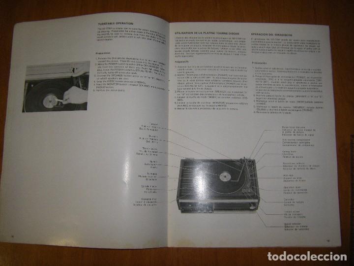 Radios antiguas: Instrucciones tocadiscos Sony HP-179 - Foto 13 - 103997883