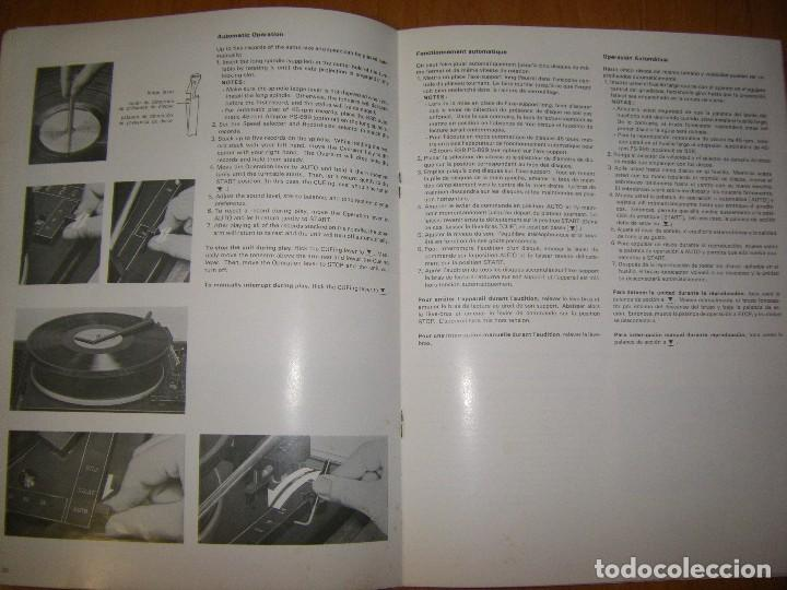 Radios antiguas: Instrucciones tocadiscos Sony HP-179 - Foto 14 - 103997883