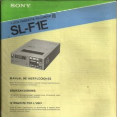 Radios antiguas - MANUAL DE INSTRUCCIONES VIDEO CASSETTE RECORDER BETA DE SONY - 1981 - 105266179