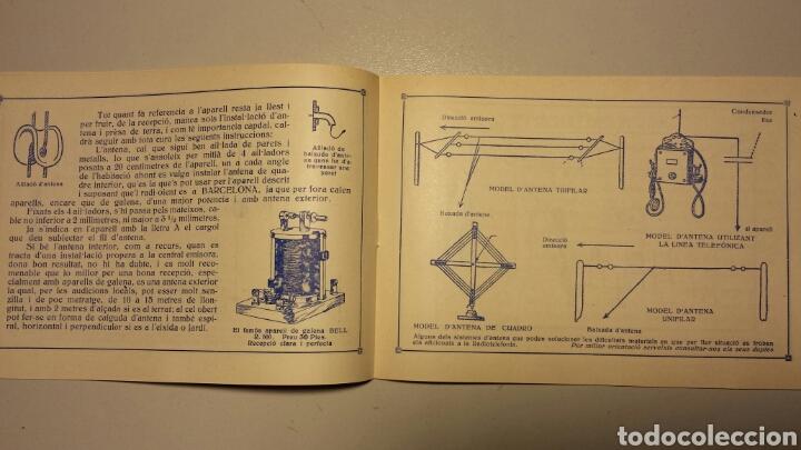 Radios antiguas: Precioso catalago de radio galena y valvulas bell en catalan años 20 - Foto 5 - 105995099