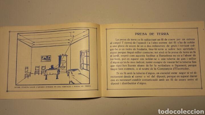 Radios antiguas: Precioso catalago de radio galena y valvulas bell en catalan años 20 - Foto 6 - 105995099
