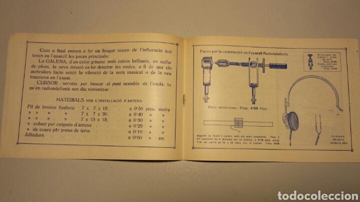 Radios antiguas: Precioso catalago de radio galena y valvulas bell en catalan años 20 - Foto 7 - 105995099