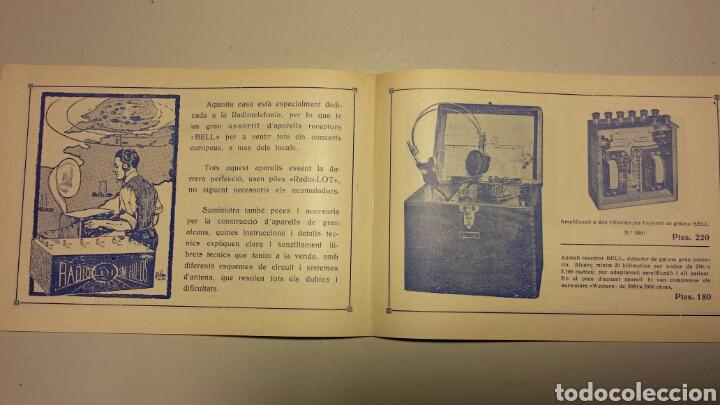 Radios antiguas: Precioso catalago de radio galena y valvulas bell en catalan años 20 - Foto 8 - 105995099