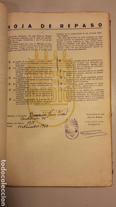 Radios antiguas: Instituto tecnico practico radio barcelona curso completo intepra años 40 galena TV - Foto 3 - 106078680