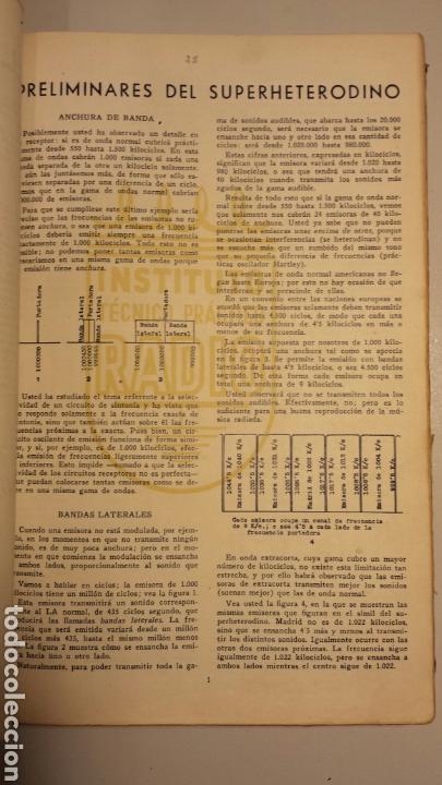Radios antiguas: Instituto tecnico practico radio barcelona curso completo intepra años 40 galena TV - Foto 4 - 106078680