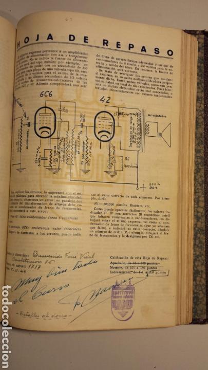 Radios antiguas: Instituto tecnico practico radio barcelona curso completo intepra años 40 galena TV - Foto 6 - 106078680