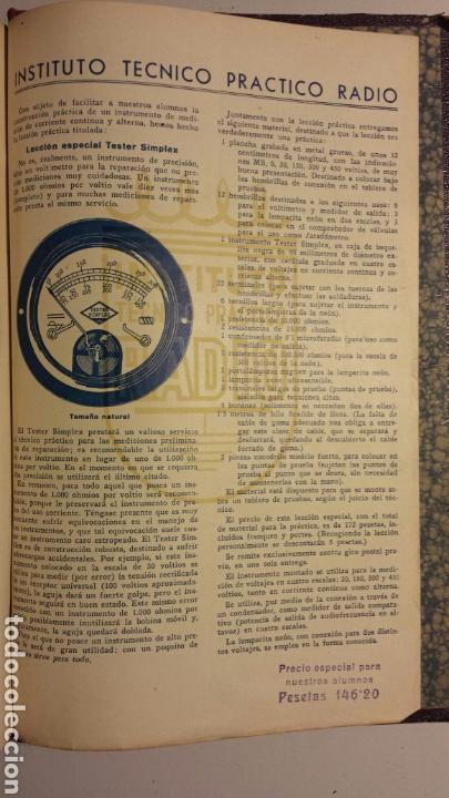 Radios antiguas: Instituto tecnico practico radio barcelona curso completo intepra años 40 galena TV - Foto 9 - 106078680