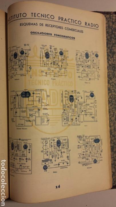 Radios antiguas: Instituto tecnico practico radio barcelona curso completo intepra años 40 galena TV - Foto 17 - 106078680