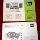 Radios antiguas: FOLLETOS INFORMATIVOS OS E INSTRUCCIONES BETTOR - EQUIPO RECEPTOR ESTEREOFONICO EF-350. Lote 106417223
