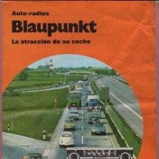 Radios antiguas: CÁTALOGO DIPTICO AUTO RADIOS BLAUPUNKT - GRUPO BOSCH. Lote 108718951