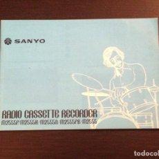 Radios antiguas: SANYO RADIO CASSETTE RECORDER M2555 - MANUAL USUARIO CATALOGO PUBLICIDAD INSTRUCCIONES FOLLETO. Lote 109053231