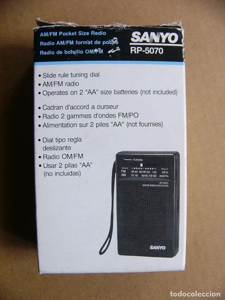 Radios antiguas: Manual de instrucciones y caja original Radio Sanyo RP-5070 RP 5070 - Foto 2 - 111805179