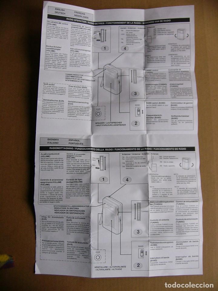 Radios antiguas: Manual de instrucciones y caja original Radio Sanyo RP-5070 RP 5070 - Foto 4 - 111805179