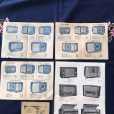 Radios antiguas - 5 folletos antiguos de publicidad de radios - 111873594