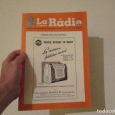 Radios antiguas: LA RADIO DE EPOCA AÑO III PRIMERA EPOCA NUMERO 14 ASOCIACION ACAR. Lote 113449031