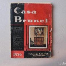 Radios antiguas: RADIO, CATÁLOGO GENERAL ILUSTRADO DE LA CASA BRUNET, 1936. Lote 114690179
