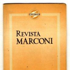 Radios antiguas: MARCONI ESPAÑOLA REVISTA EDITADA POR LA FABRICA AÑO VI Nº 23 OCTUBRE 1952. Lote 116333799