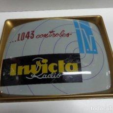 Radios antiguas: RADIO TELEVISION INCICTA LETRERO AÑOS 60 DE PUBLICIDAD. Lote 116703807