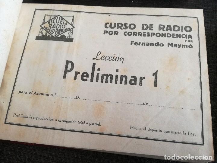 Radios antiguas: CURSO DE RADIO, FERNANDO MAYMÓ (ESCUELA RADIO BARCELONA MADRID) - Foto 4 - 117395639