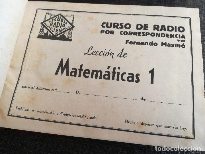 Radios antiguas: CURSO DE RADIO, FERNANDO MAYMÓ (ESCUELA RADIO BARCELONA MADRID) - Foto 5 - 117395639