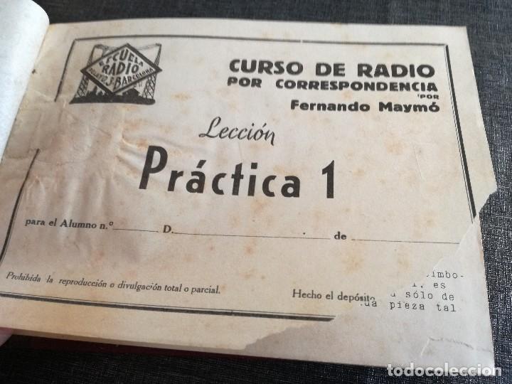 Radios antiguas: CURSO DE RADIO, FERNANDO MAYMÓ (ESCUELA RADIO BARCELONA MADRID) - Foto 6 - 117395639