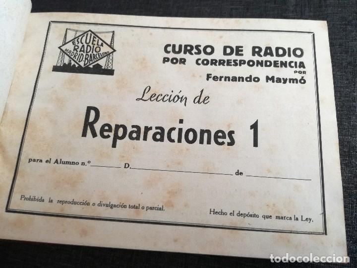 Radios antiguas: CURSO DE RADIO, FERNANDO MAYMÓ (ESCUELA RADIO BARCELONA MADRID) - Foto 7 - 117395639