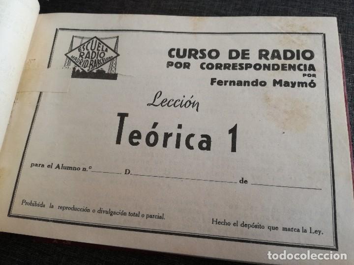 Radios antiguas: CURSO DE RADIO, FERNANDO MAYMÓ (ESCUELA RADIO BARCELONA MADRID) - Foto 8 - 117395639