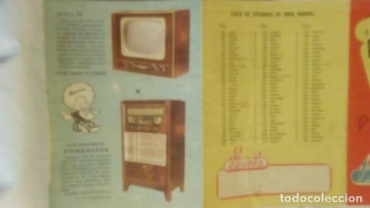 Radios antiguas: CATALOGO DESPLEGABLE DE RADIO Y RADIOGRAMOLA - ALADINO Y LA RADIO MARAVILLOSA IBERIA - Foto 2 - 117673311