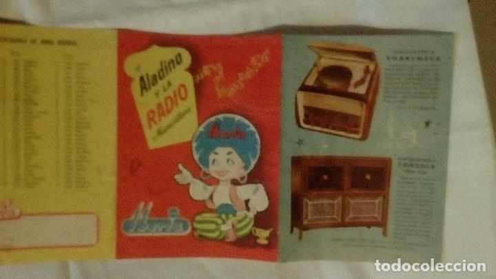 Radios antiguas: CATALOGO DESPLEGABLE DE RADIO Y RADIOGRAMOLA - ALADINO Y LA RADIO MARAVILLOSA IBERIA - Foto 3 - 117673311