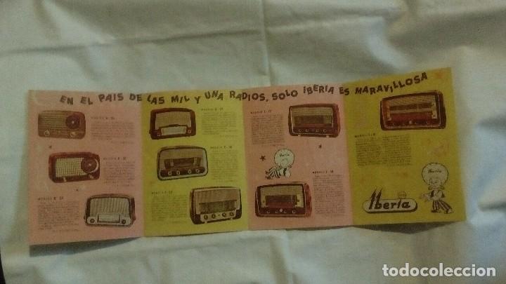 Radios antiguas: CATALOGO DESPLEGABLE DE RADIO Y RADIOGRAMOLA - ALADINO Y LA RADIO MARAVILLOSA IBERIA - Foto 5 - 117673311
