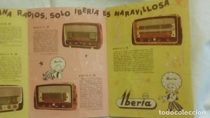 Radios antiguas: CATALOGO DESPLEGABLE DE RADIO Y RADIOGRAMOLA - ALADINO Y LA RADIO MARAVILLOSA IBERIA - Foto 6 - 117673311