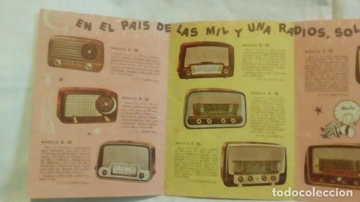 Radios antiguas: CATALOGO DESPLEGABLE DE RADIO Y RADIOGRAMOLA - ALADINO Y LA RADIO MARAVILLOSA IBERIA - Foto 7 - 117673311
