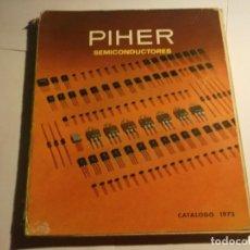 Rádios antigos: PIHER-SEMICONDUCTORES-CATALOGO 1973. Lote 118086235