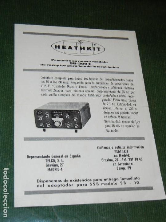 FOLLETO HEATHKIT SB-300E RECEPTOR BANDA LATERAL UNICA (Radios, Gramófonos, Grabadoras y Otros - Catálogos, Publicidad y Libros de Radio)