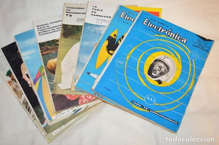 LOTE DE 8 EJEMPLARES CON 9 NÚMEROS - REVISTA ESPAÑOLA DE ELECTRÓNICA - AÑOS 60 - HAZME UNA OFERTA (Radios, Gramófonos, Grabadoras y Otros - Catálogos, Publicidad y Libros de Radio)