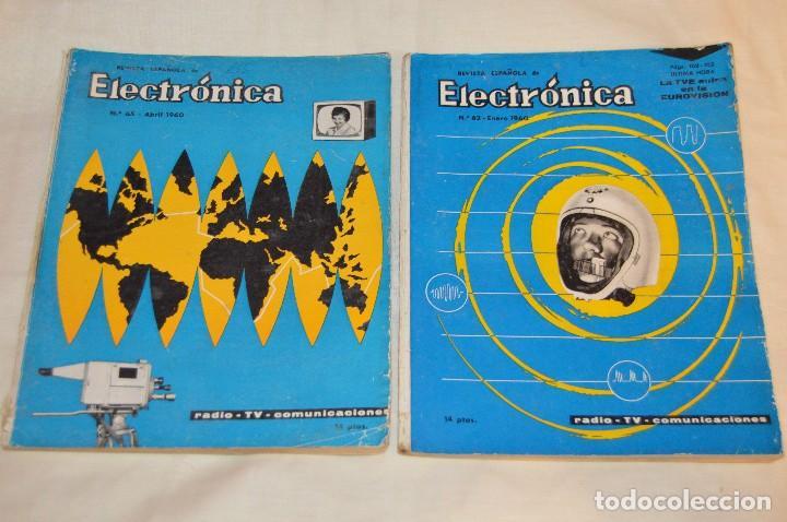 Radios antiguas: LOTE DE 8 EJEMPLARES CON 9 NÚMEROS - REVISTA ESPAÑOLA DE ELECTRÓNICA - AÑOS 60 - HAZME UNA OFERTA - Foto 3 - 120506807