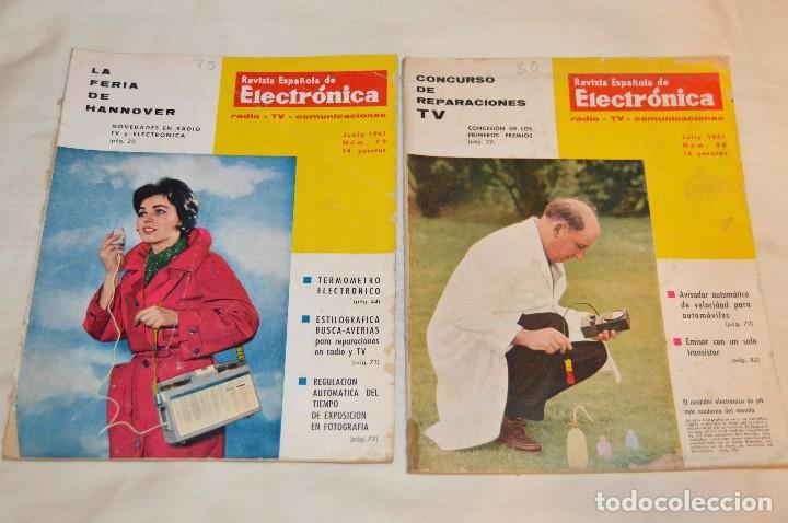 Radios antiguas: LOTE DE 8 EJEMPLARES CON 9 NÚMEROS - REVISTA ESPAÑOLA DE ELECTRÓNICA - AÑOS 60 - HAZME UNA OFERTA - Foto 5 - 120506807