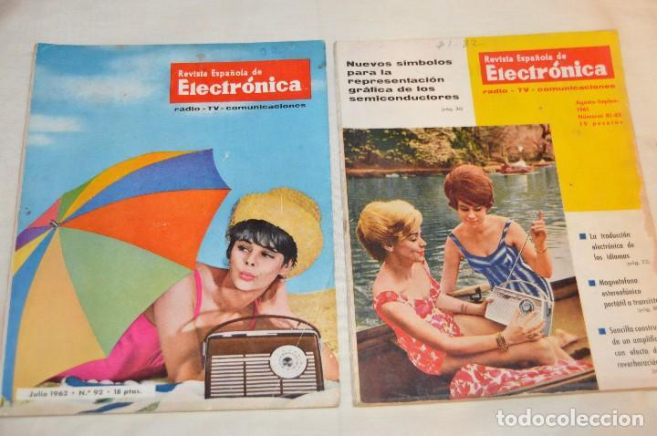 Radios antiguas: LOTE DE 8 EJEMPLARES CON 9 NÚMEROS - REVISTA ESPAÑOLA DE ELECTRÓNICA - AÑOS 60 - HAZME UNA OFERTA - Foto 7 - 120506807