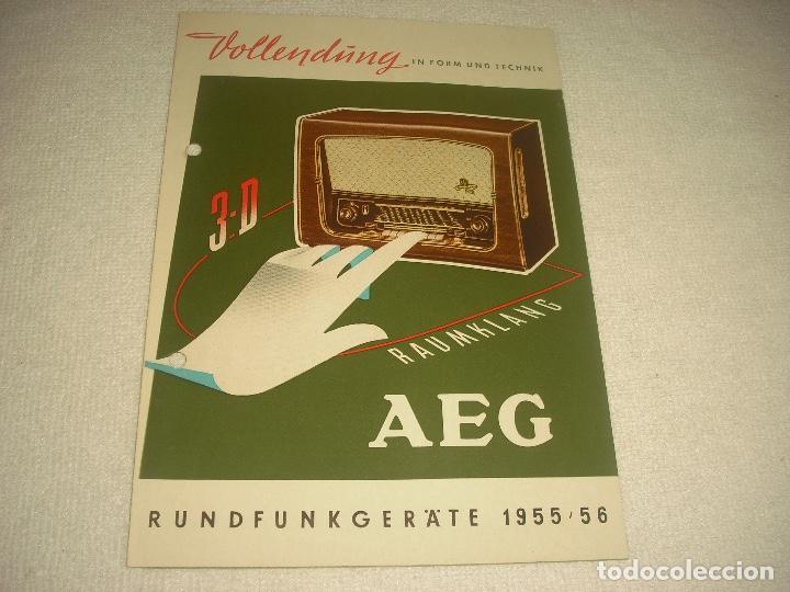AEG RAUMKLANG, PUBLICIDAD DE VARIOS MODELOS DE RADIO 1955/56, EN ALEMAN (Radios, Gramófonos, Grabadoras y Otros - Catálogos, Publicidad y Libros de Radio)