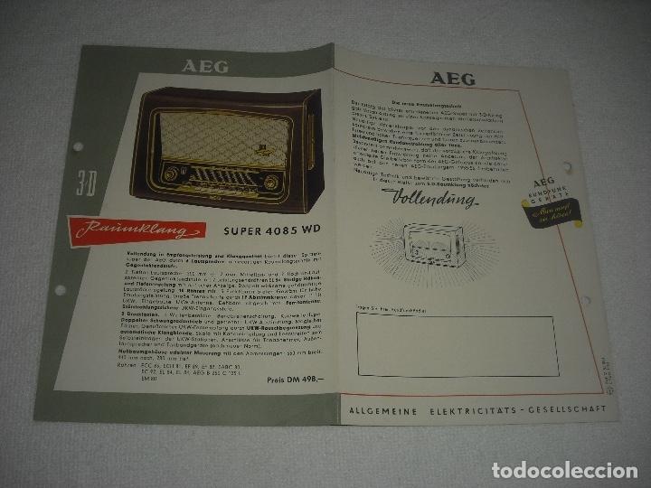 Radios antiguas: AEG RAUMKLANG, PUBLICIDAD DE VARIOS MODELOS DE RADIO 1955/56, EN ALEMAN - Foto 3 - 120689827