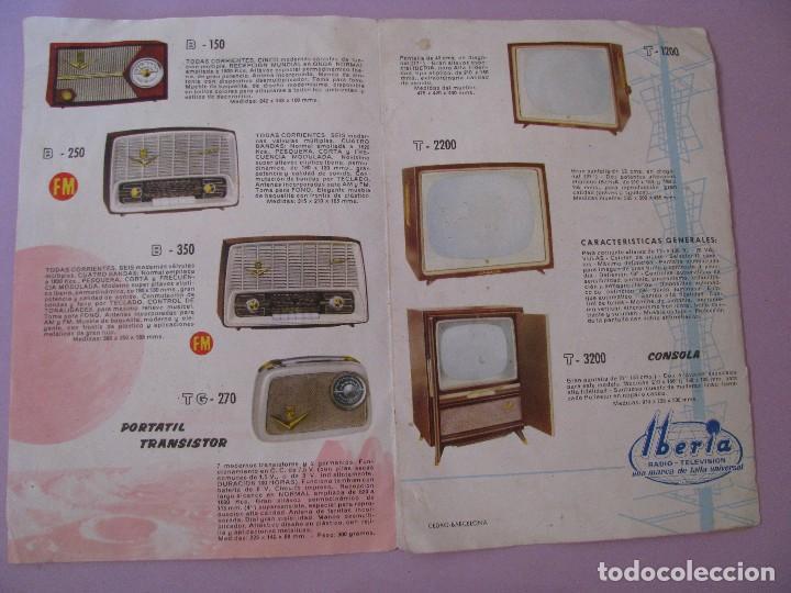 Radios antiguas: CATALOGO RADIOS Y TELEVISIONES IBERIA. AÑOS 60. - Foto 2 - 120819643