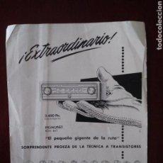 Radios antiguas: PUBLICIDAD PHILIPS TELEVISOR TOCADISCOS Y AUTO-RADIO. Lote 121898708