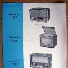 Radios antiguas: ELECTRONICA, FOLLETO CATALOGO MUEBLES RADIO, COMERCIAL RADIO BERTRAN . Lote 123149463