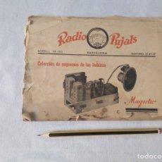 Radios antiguas: LIBRO ESQUEMAS DE RADIO PUJALS. Lote 124716791