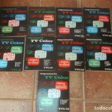 Radios antiguas: LOTE 9 LIBROS DE ESQUEMATICO TV COLOR. Lote 125135295